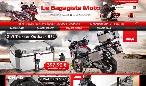Le bagagiste moto