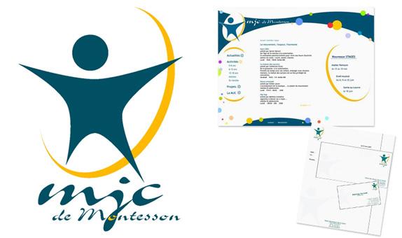 création de l'identité visuelle de la MJC de Montesson