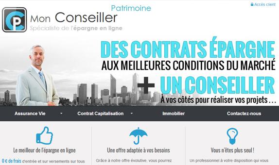 site internet de Mon conseiller patrimoine