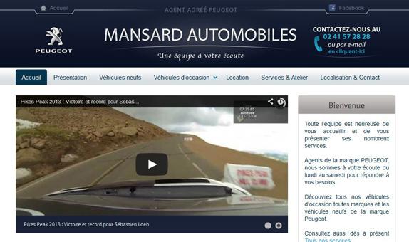 site internet Mansard Automobiles